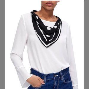 Zara blouse with scarf Sz XL